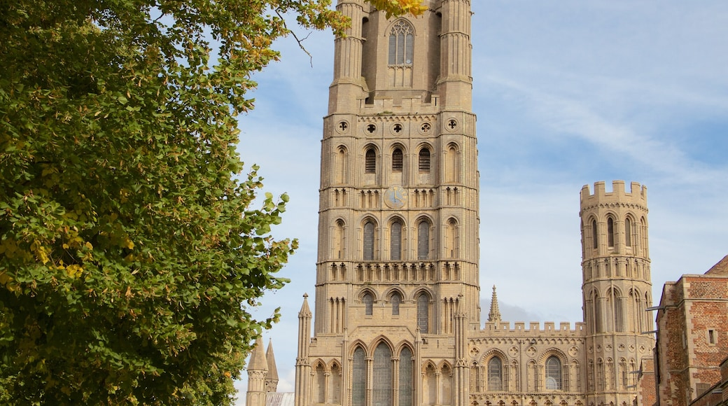 Catredral de Ely mostrando una iglesia o catedral, patrimonio de arquitectura y elementos del patrimonio