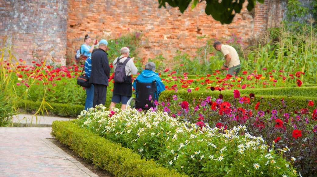 Lost Gardens of Heligan mettant en vedette fleurs et parc aussi bien que petit groupe de personnes