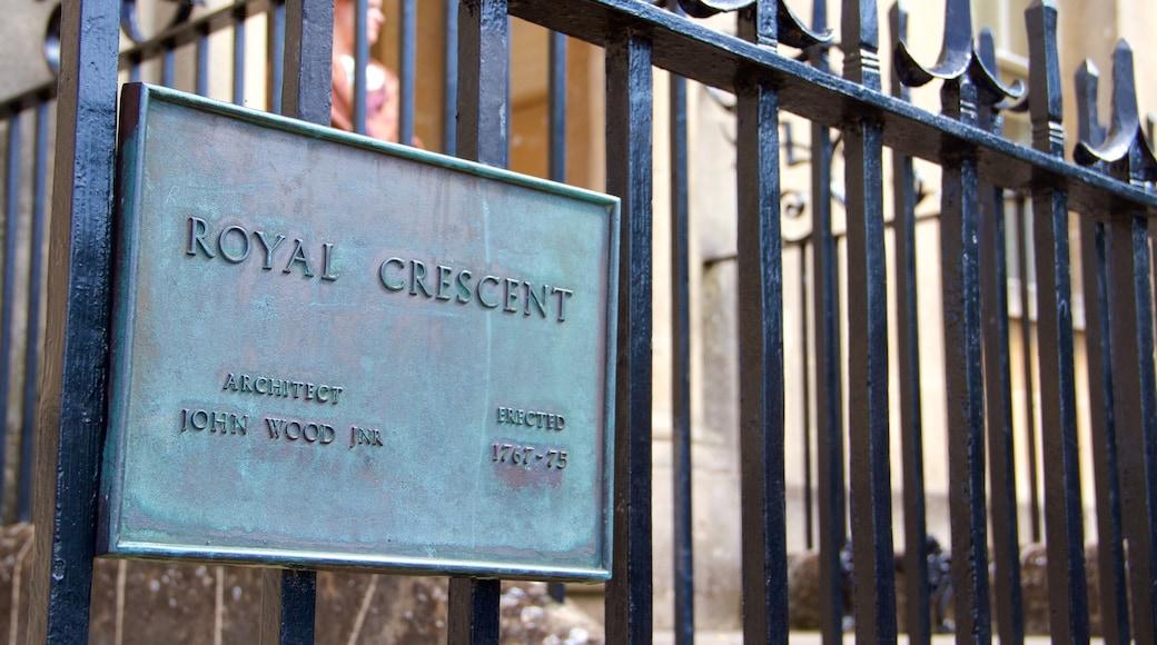 Royal Crescent showing signage