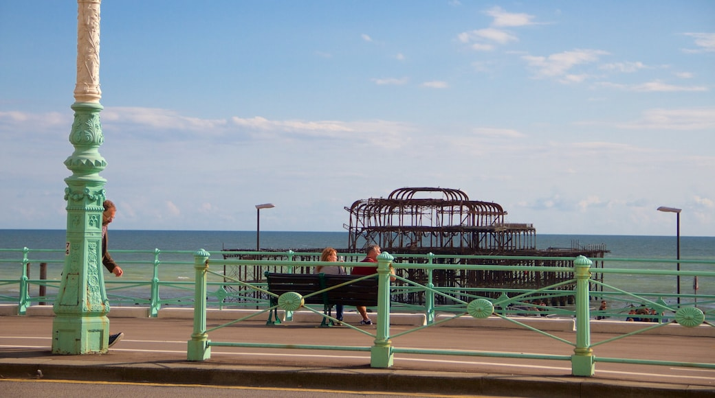 Brighton showing general coastal views