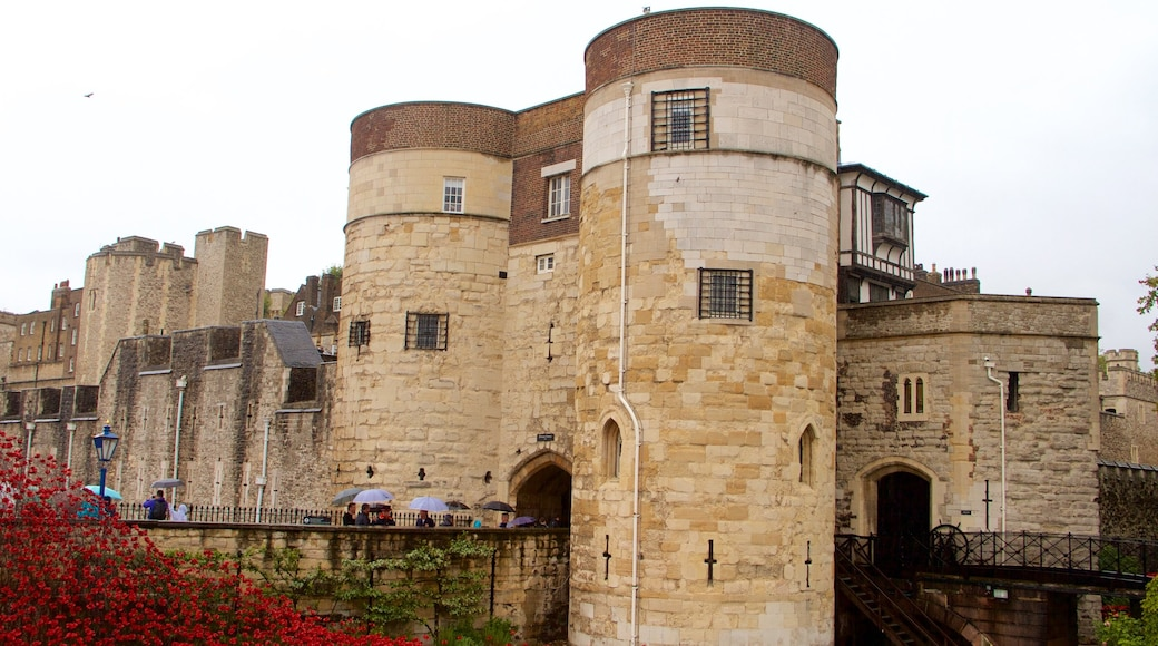 Tower of London which includes heritage elements