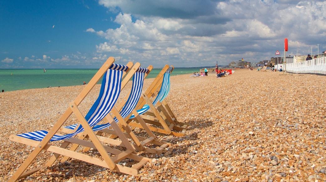 Brighton Beach which includes a pebble beach