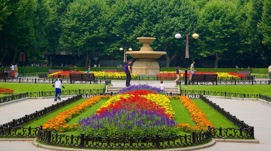 สวนสาธารณะ Fuxing เนื้อเรื่องที่ สวน และ ดอกไม้
