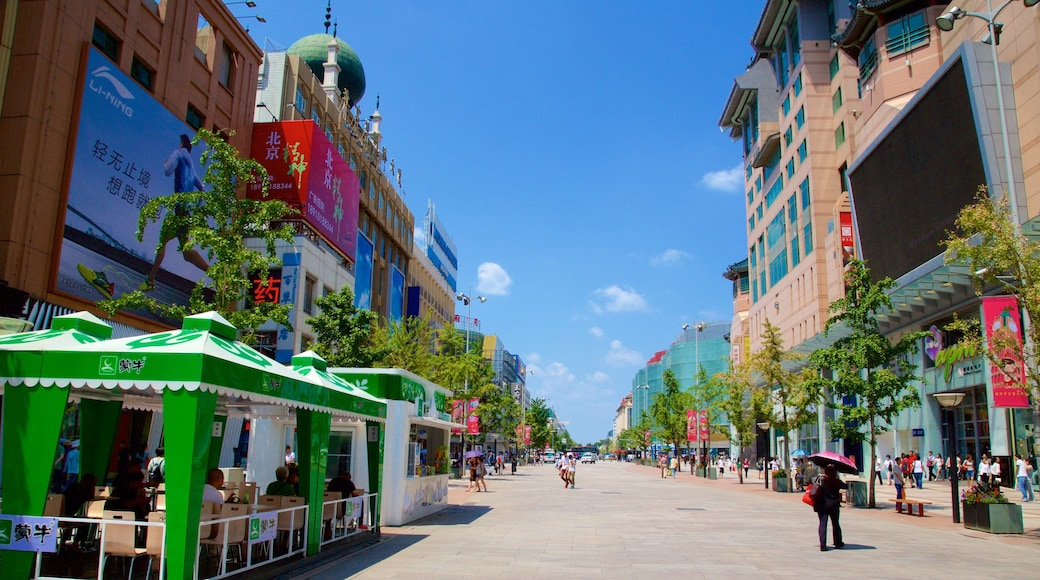 Wangfujing Street featuring a city, street scenes and city views