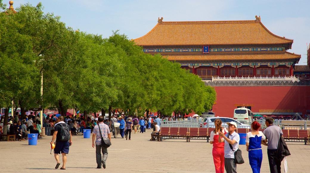 紫禁城 呈现出 廣場 以及 一小群人