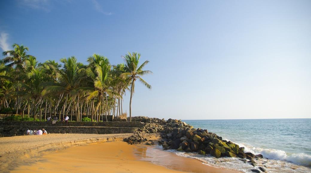 Thiruvananthapuram District which includes a sandy beach