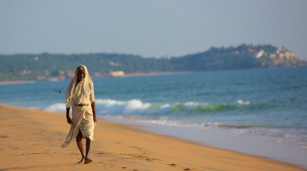Thiruvananthapuram District which includes a beach as well as an individual male