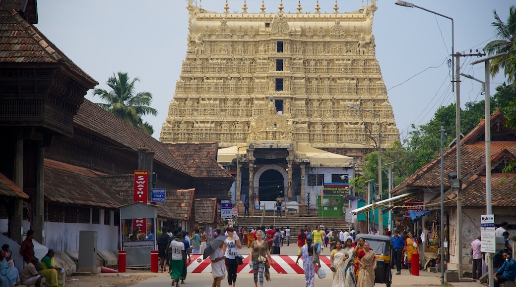 Padmanabhaswami Temple which includes a temple or place of worship and street scenes