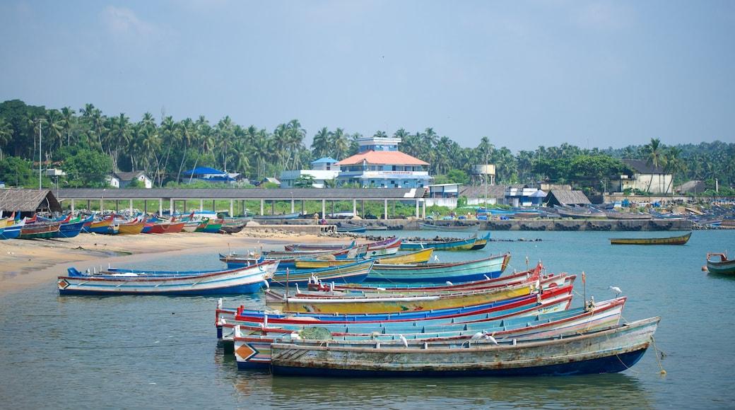 Vizhinjam Beach showing general coastal views