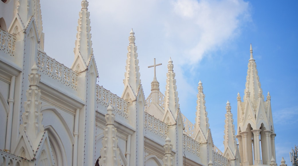 San Thome Cathedral featuring a church or cathedral and heritage architecture
