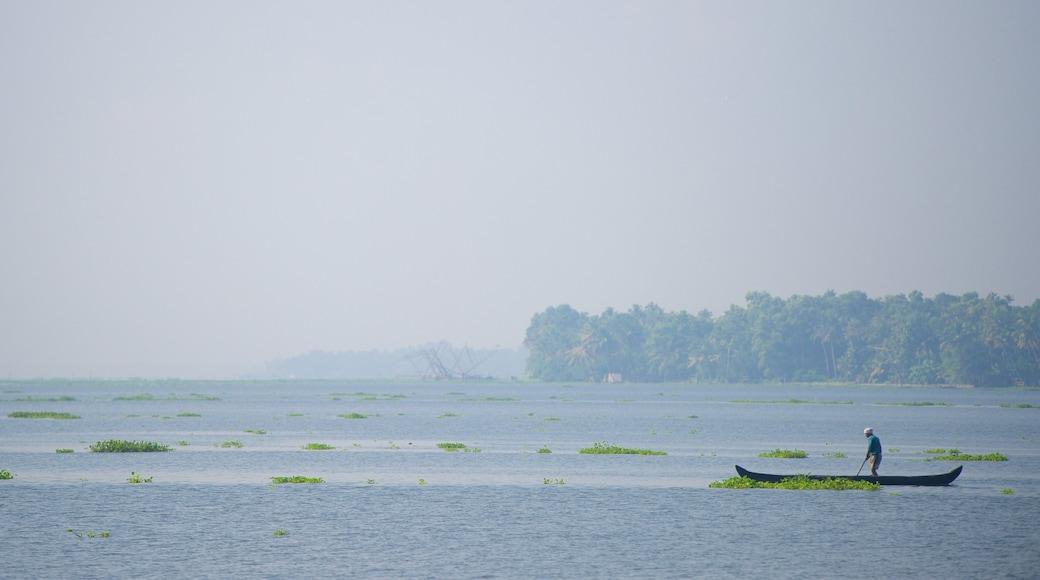 Kumarakom showing a lake or waterhole