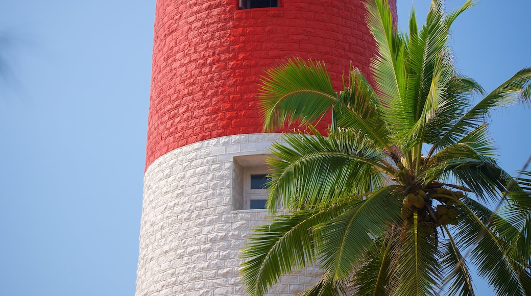 Lighthouse Beach which includes a lighthouse