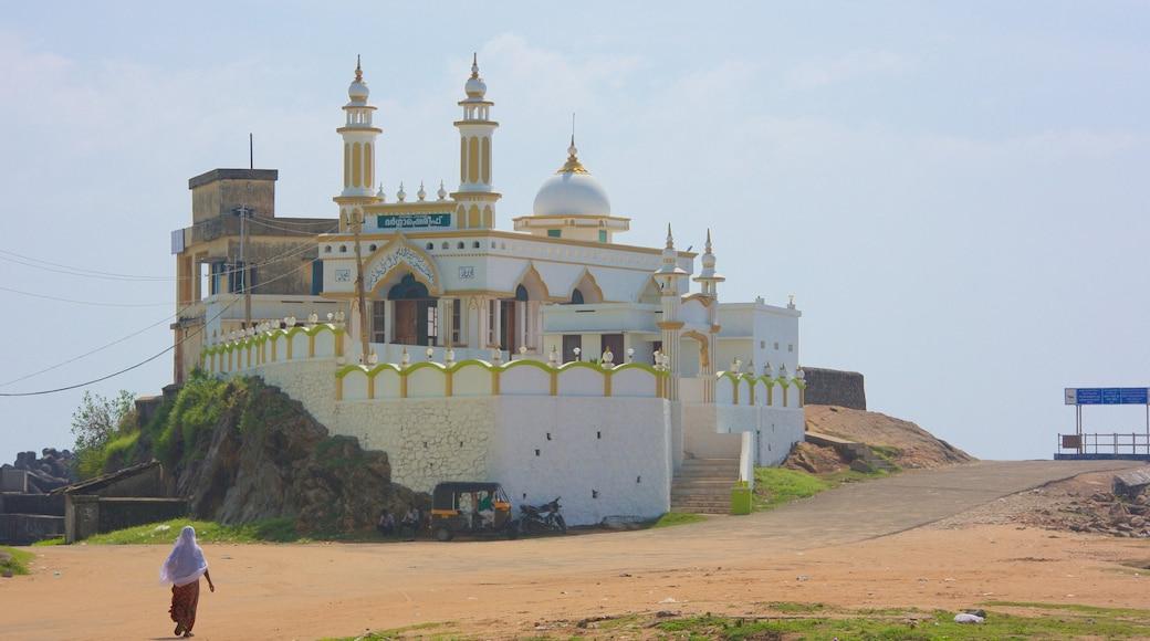 Vizhinjam Beach showing heritage architecture