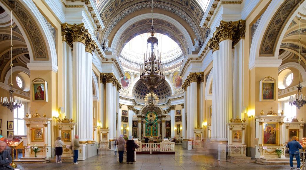 Monasterio de Alexander Nevsky ofreciendo vistas interiores y patrimonio de arquitectura