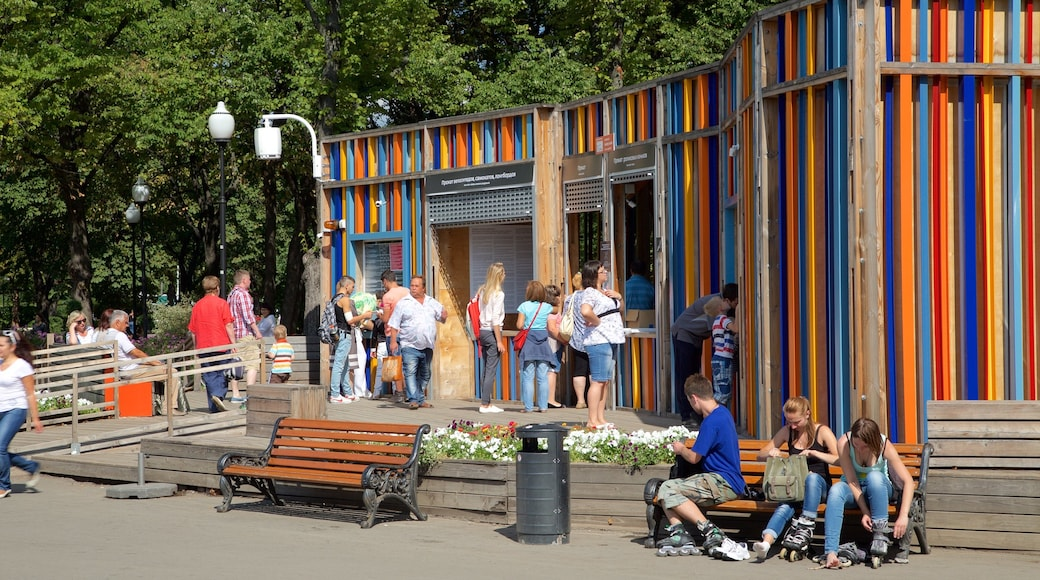 Gorky Park showing a park as well as a small group of people