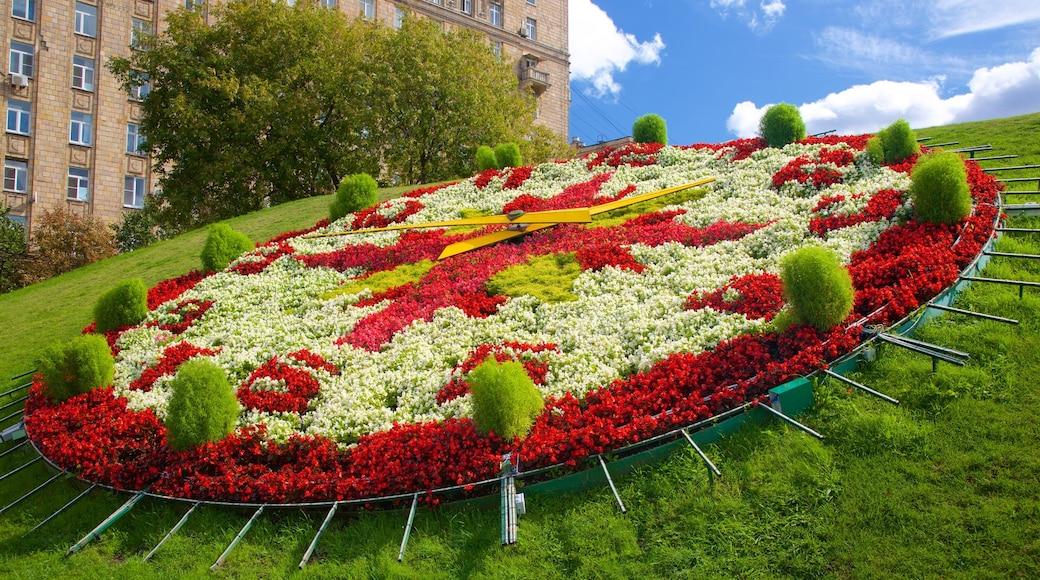 Siegespark das einen Garten und Blumen
