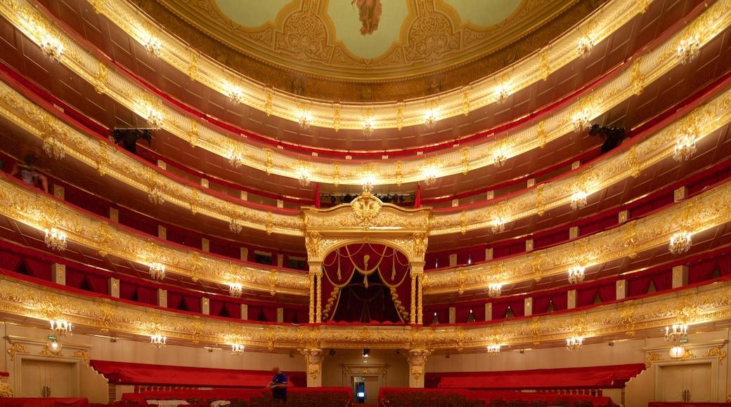 Bolschoi-Theater welches beinhaltet Theater, Innenansichten und historische Architektur