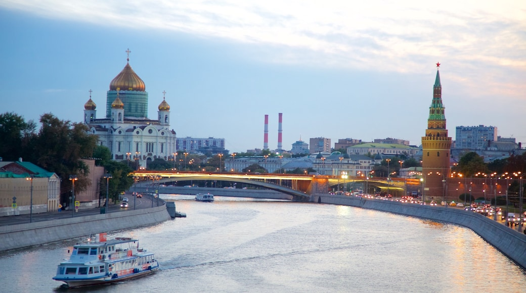 Cathedral of Christ the Savior which includes a city, a river or creek and a ferry