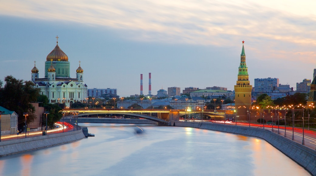 Cathedral of Christ the Savior which includes a river or creek and a city
