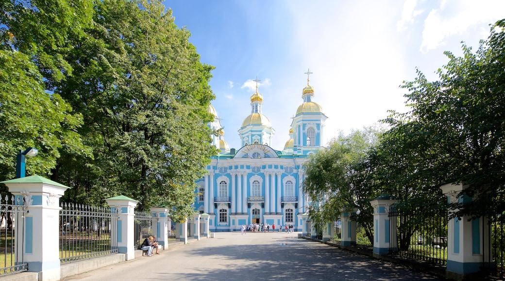 St. Nicholas\' Naval-katedralen som inkluderar historisk arkitektur