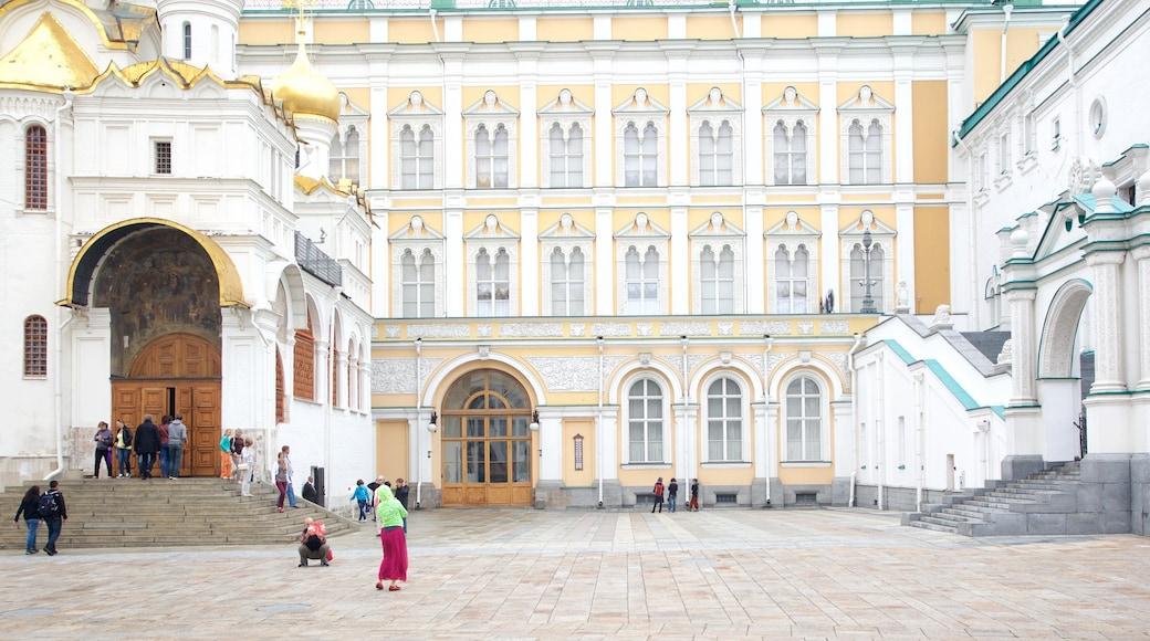 Rüstkammer des Moskauer Kremls welches beinhaltet historische Architektur und Platz oder Plaza