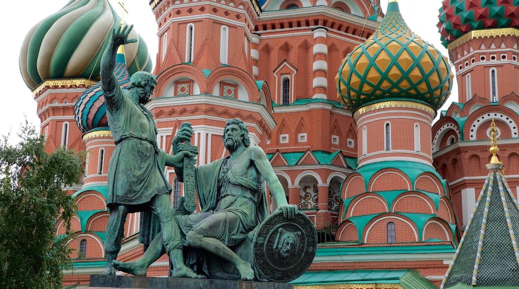 Monument à Minine et Pojarski mettant en vedette patrimoine architectural et statue ou sculpture