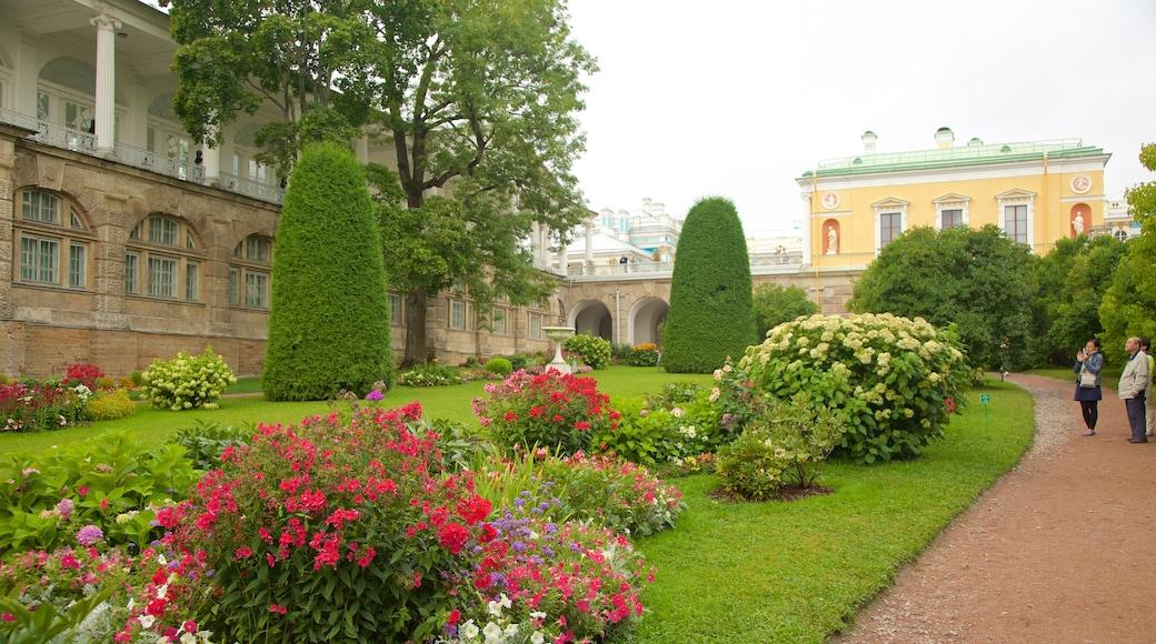 Katarinas palats och park i Tsarskoye Selo som inkluderar en trädgård