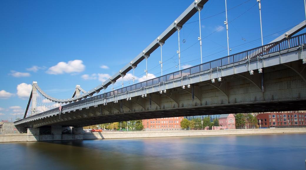 Crimean Bridge showing a bridge and a river or creek
