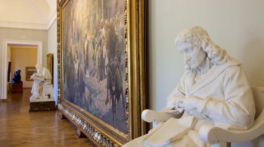Ryska museet som visar interiörer