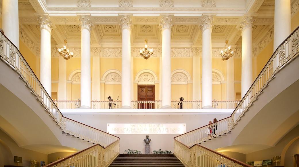 Ryska museet som visar interiörer och historisk arkitektur