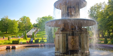 Peterhof Palace and Garden featuring a fountain and heritage architecture