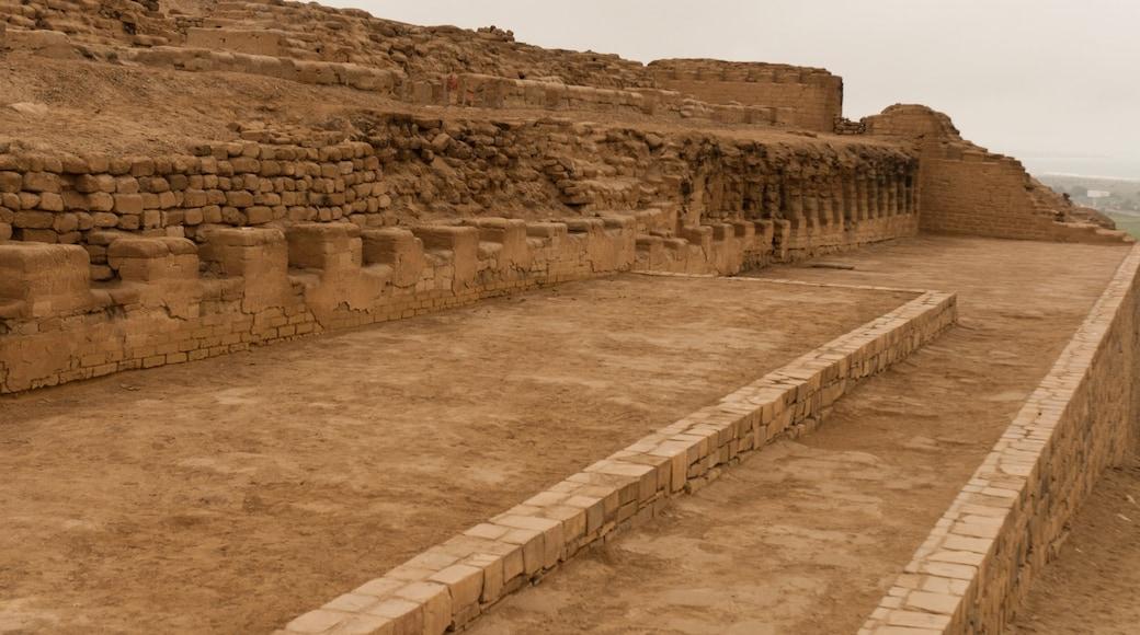 Pachacámac welches beinhaltet Ruine, ruhige Szenerie und Geschichtliches
