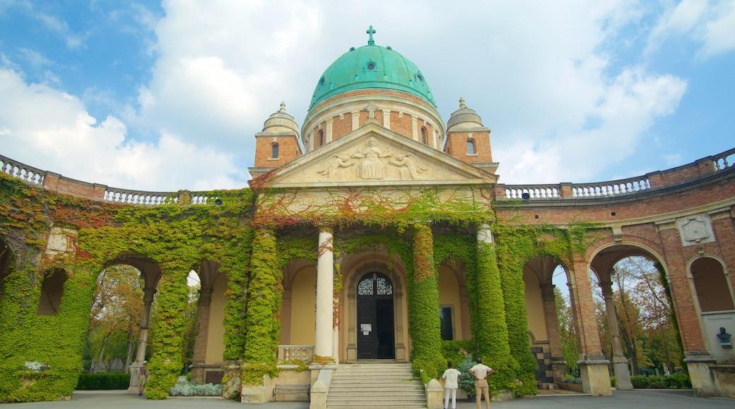 Mirogojin hautausmaa joka esittää vanha arkkitehtuuri