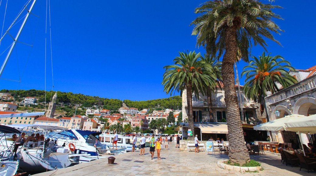 Hvar which includes a coastal town