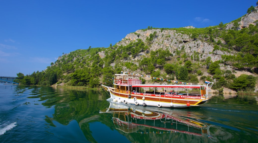 Krka National Park featuring boating and a lake or waterhole