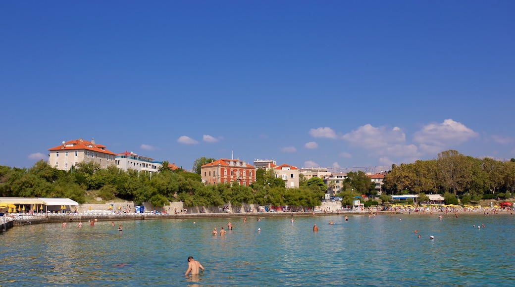 Bacvice Beach featuring general coastal views and a city