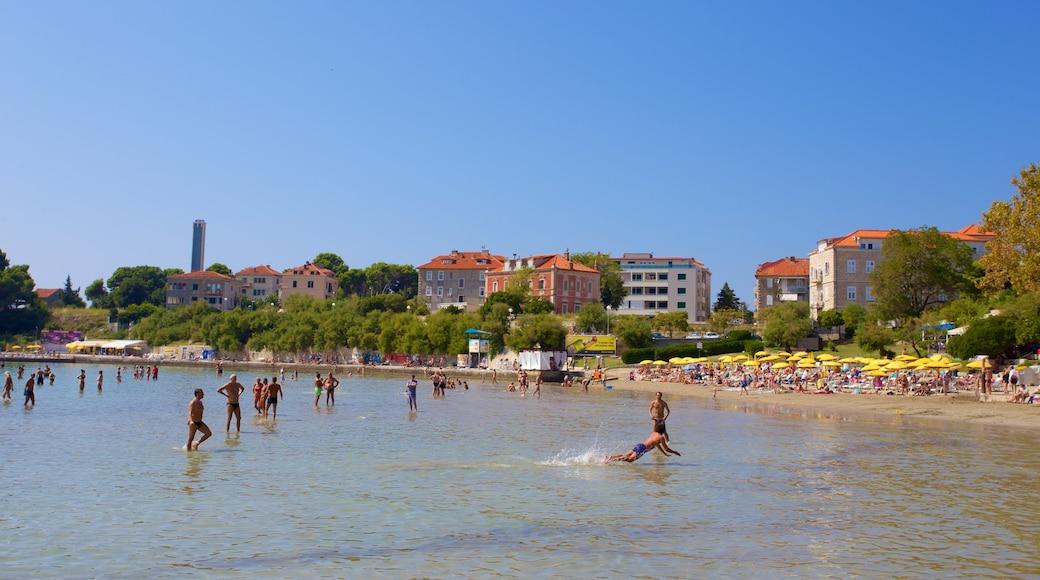 Bacvice Beach showing general coastal views