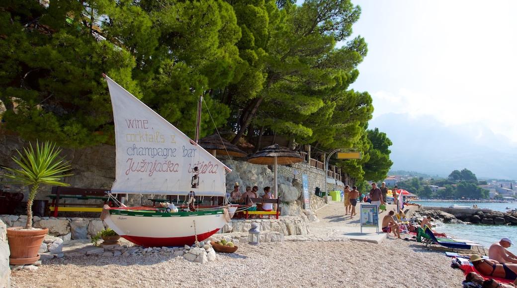 Baska Voda Beach featuring a pebble beach