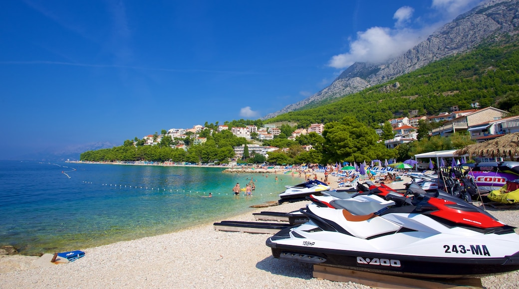 Baska Voda Beach which includes a pebble beach and boating
