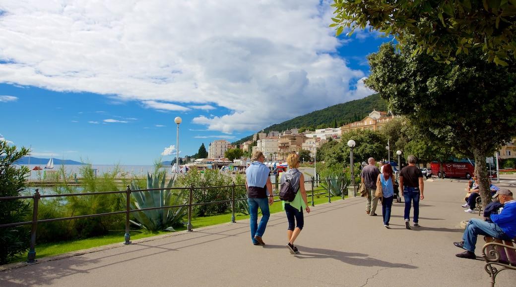 Slatina Beach showing hiking or walking