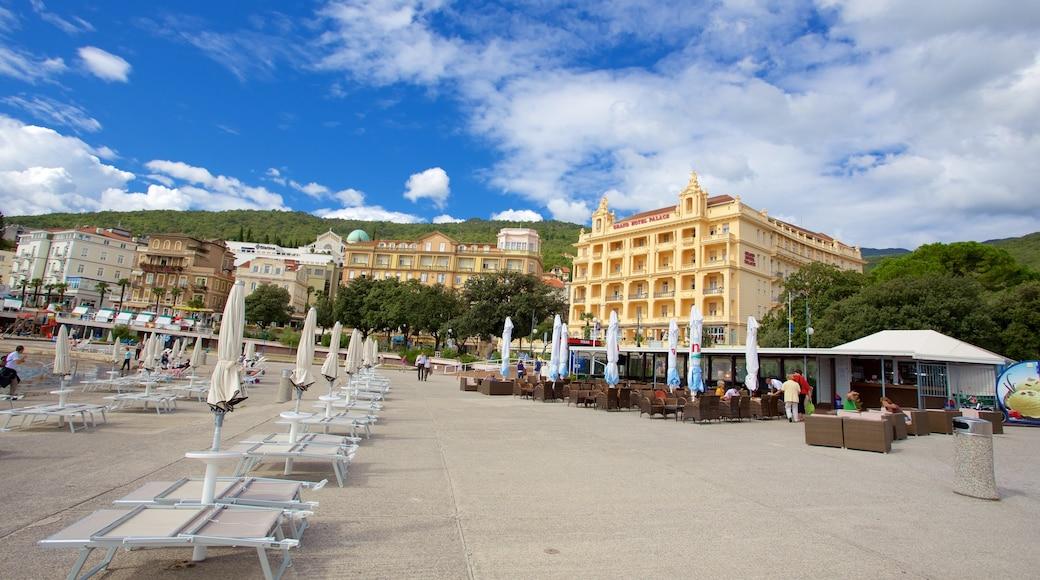 Slatina Beach which includes a coastal town