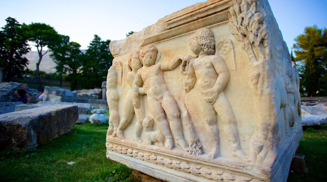 Ruines de Salone mettant en vedette bâtiments en ruines et patrimoine historique