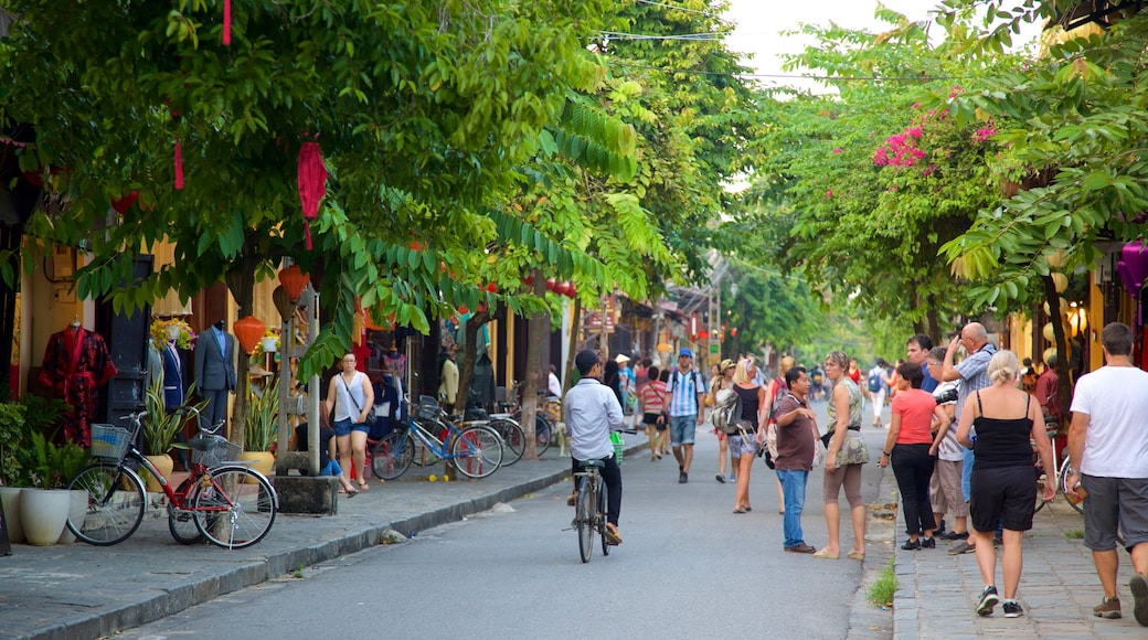 Hoi An Ancient Town which includes a small town or village, cycling and street scenes