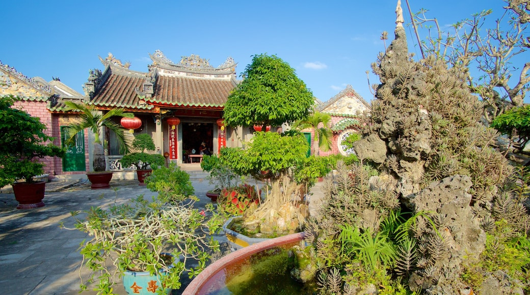 Hội quán Phúc Kiến - Chùa Kim An cho thấy đền chùa, quảng trường và đài phun nước