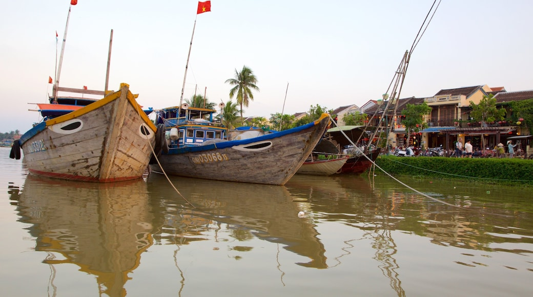 Hoi An featuring boating and a river or creek