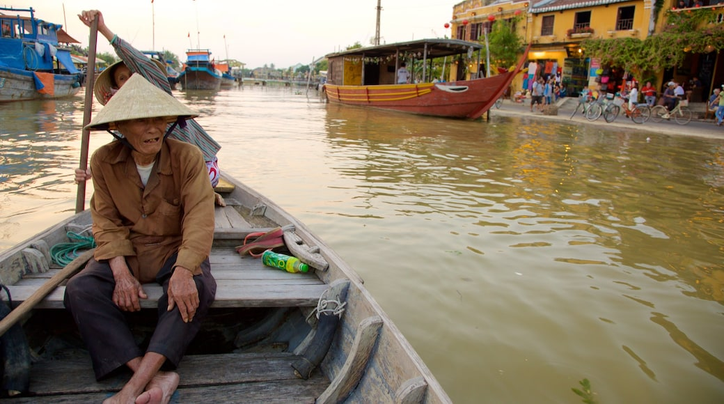 Hoi An featuring kayaking or canoeing and a river or creek as well as an individual male