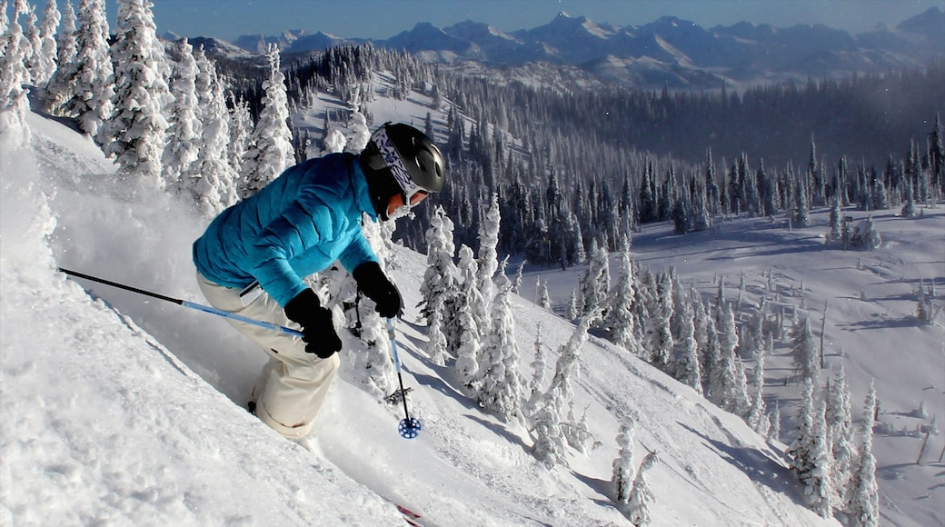 Montana featuring snow and snow skiing as well as an individual male