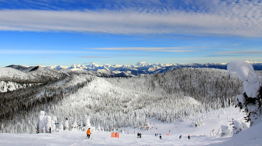 Whitefish showing landscape views, mountains and snow skiing