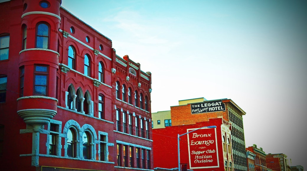 Butte showing heritage architecture and signage