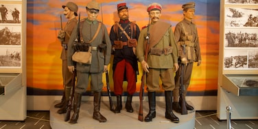National Military Museum which includes a statue or sculpture and interior views
